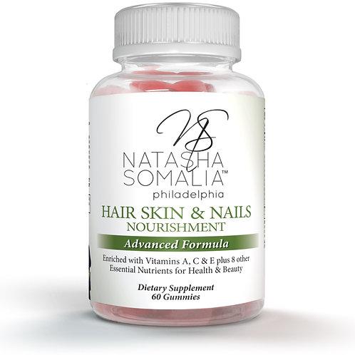 Hair Skin & Nails  Nourishment Advanced Formula Gummies 30 day supply