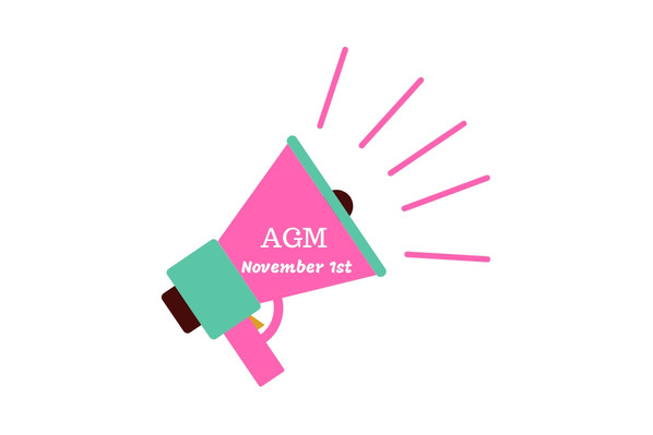 Annual AGM Nov 1st, 7pm.