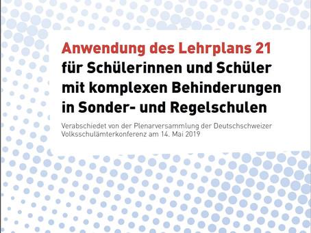 Anwendung des LP21 für SuS mit komplexen Behinderungen in Sonder- und Regelschulen