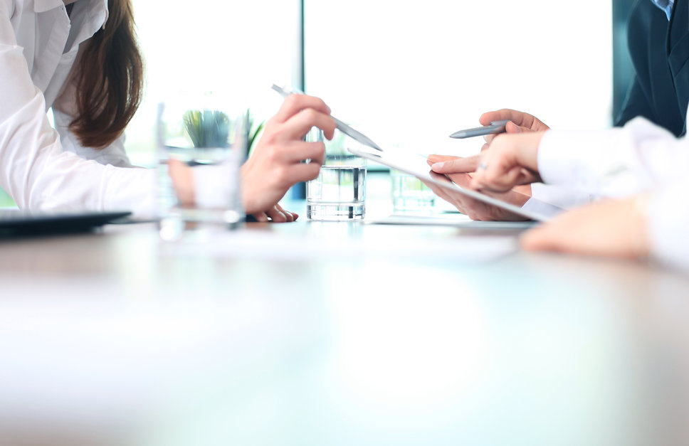 Business adviser analyzing financial fig