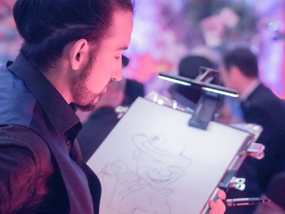 Book now Live Caricature session for your up-coming events.