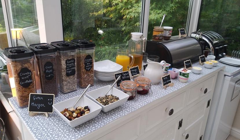 Breakfast buffet for two