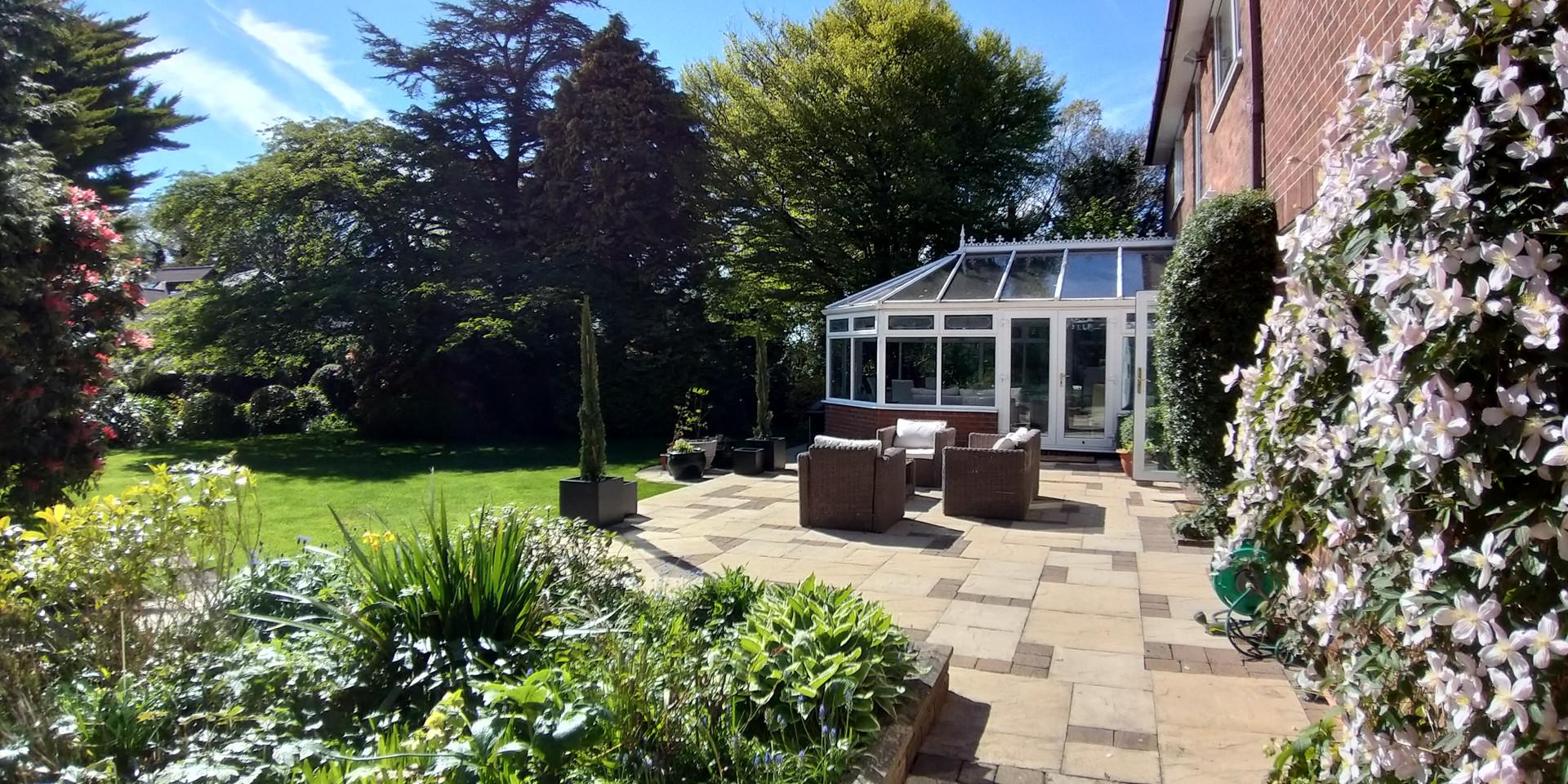 Hillingford's sunny patio