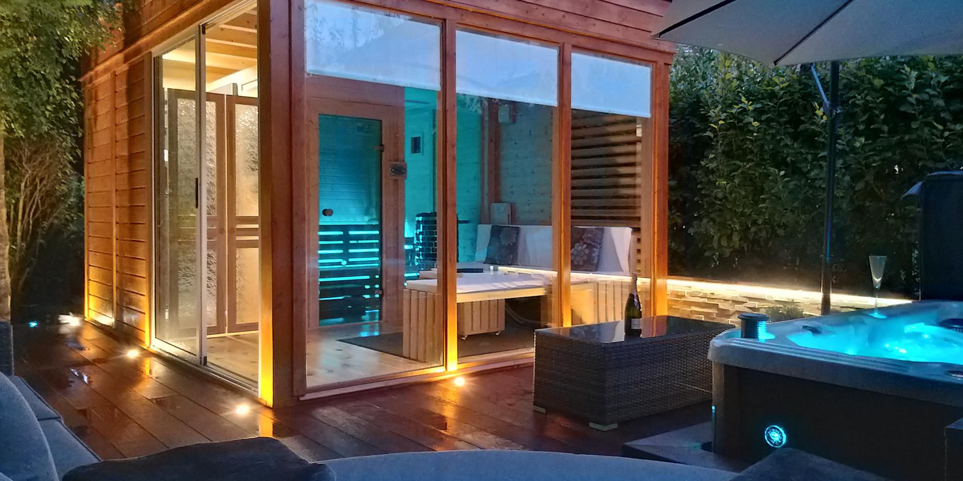 Hillingford's garden sauna and spa