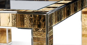 Limestone Fireplace Milled and 3D Modeled after   Glass Table