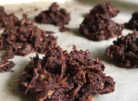 No Bake Dark Chocolate Macaroons