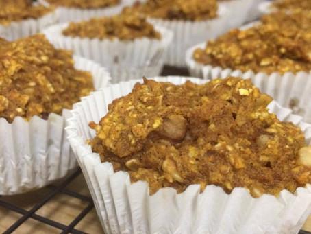 Pumpkin Walnut Oat Muffins