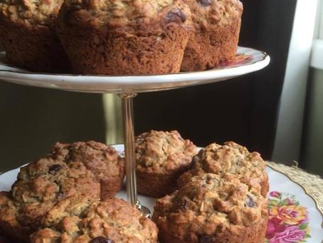 Dark Chocolate Coconut Muffins