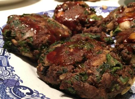 Jalapeno Mushroom Kale Burgers
