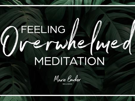 Episode 30: Feeling Overwhelmed Guided Meditation