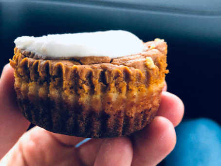 Mini Pumpkin Pies + Coconut Whipped Cream (GF/Vegan)
