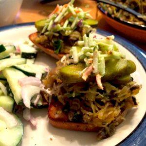 BBQ Pulled Spaghetti Squash Sandwiches