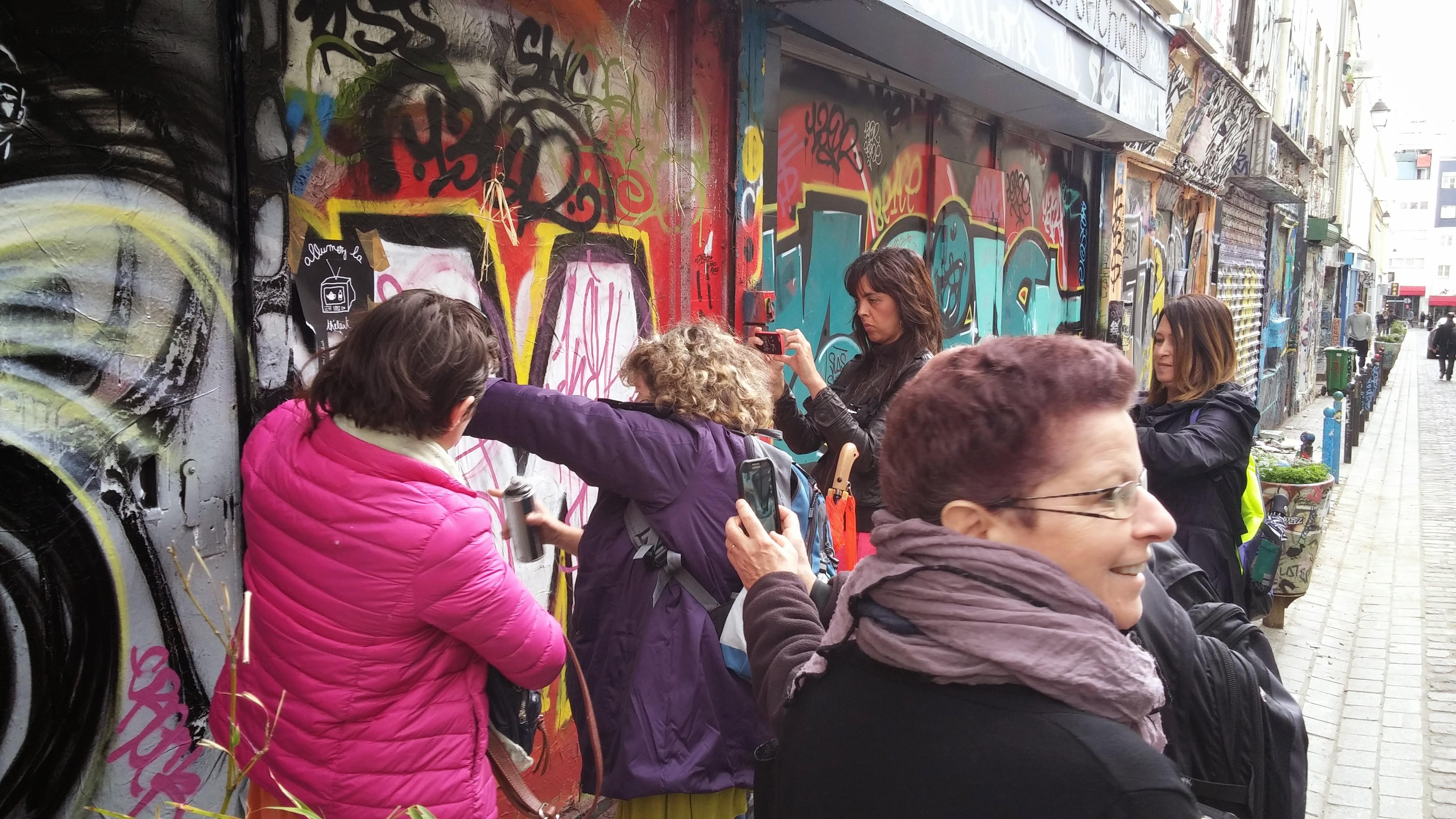 יוצרים יחד אמנות רחוב!