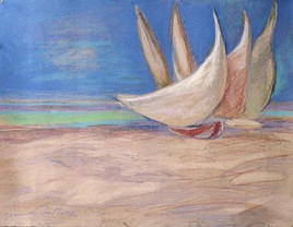 """Jangada""  Sails of Northeastern Brazil"