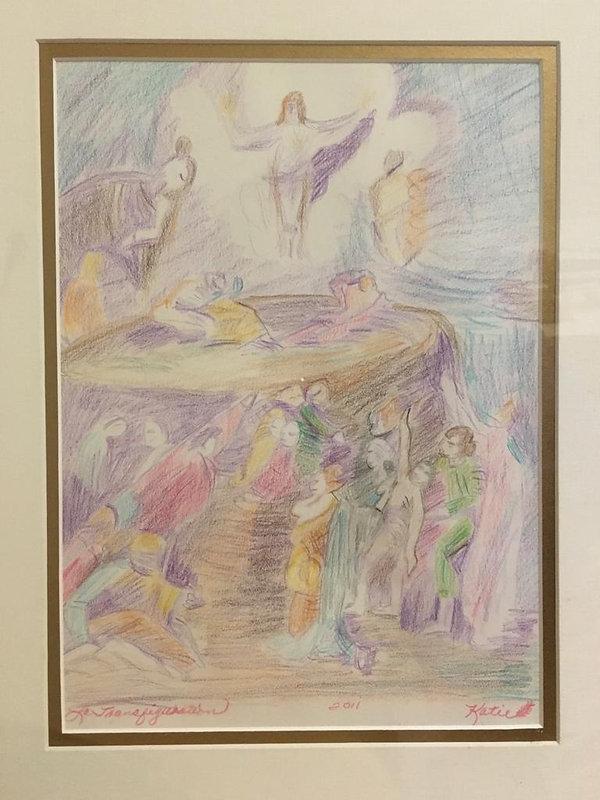 Transfiguration drawing by Kathy Gajewsk