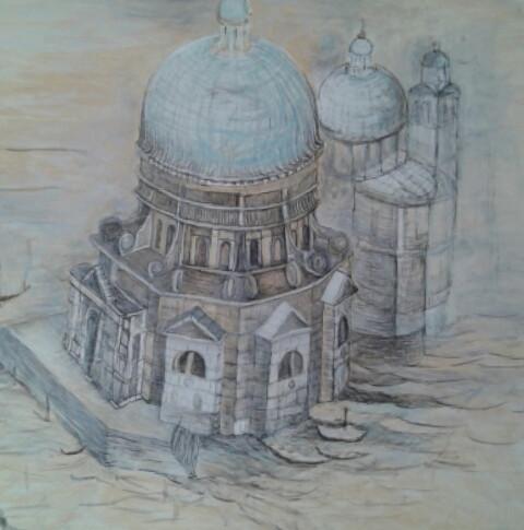 Venetian Church seen from the Air