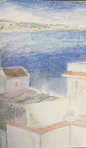 Siracusa Rooftops and Sea_