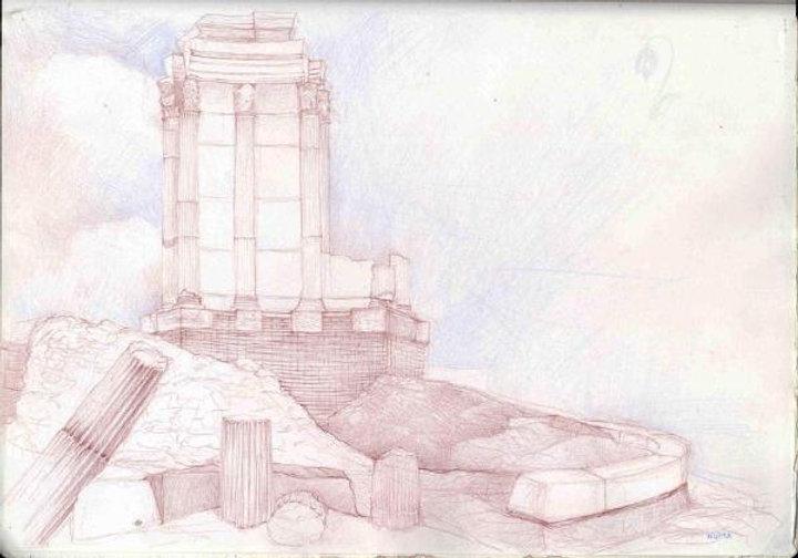 Tempio Vesta di Numa pencil.jpg