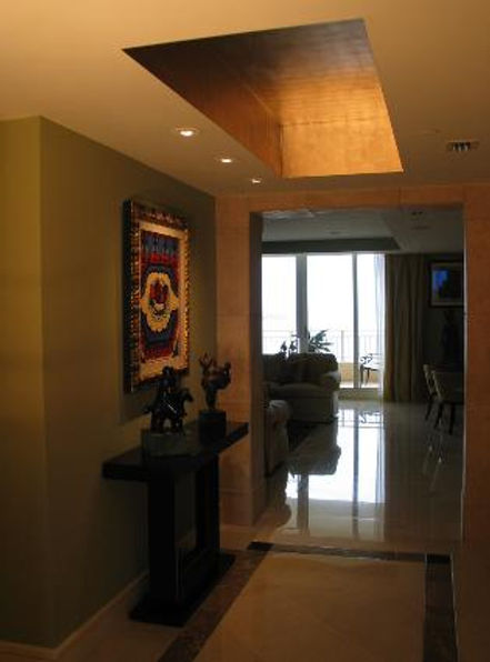 Goldleaf ceiling commission Ocean Club H