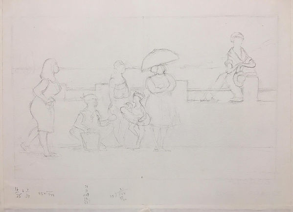 Underdrawing for Martinique People by Ba