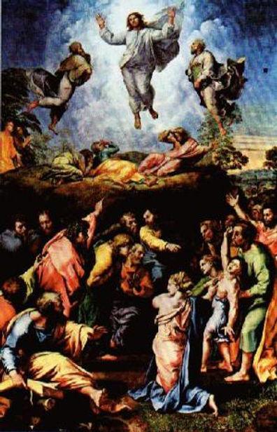 Raphael Transfiguration in Vatican Pinac
