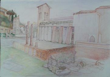 Rome: the 12th century Church of San Nicola in Carcere