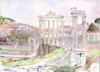 Forum temple Saturn acquarello.jpg