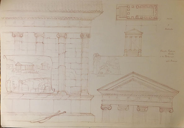 Foro Boario architectural details and re