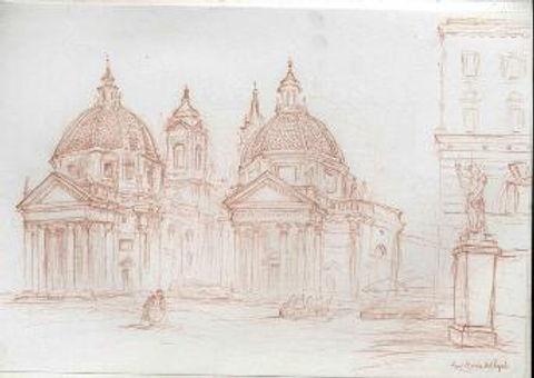 Las dos Marias del Popolo pencil.jpg