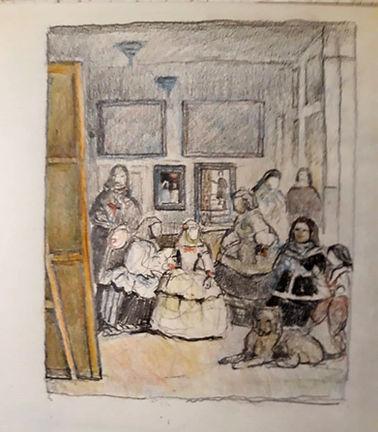 Las Meninas Complete Pencil Sketch Plus.