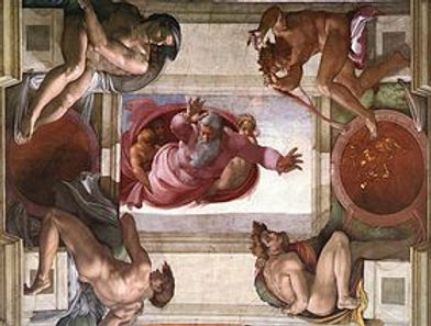 Sistine Ceiling God Dividing the Waters.