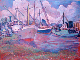 Old Miami River Boats