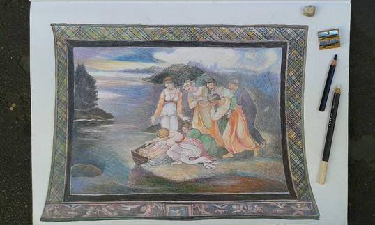 The Finding of Moses (apres Raphael Sanzio)