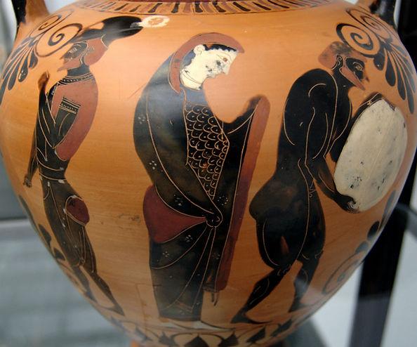 Black Vase Persephone supervising Sisyph