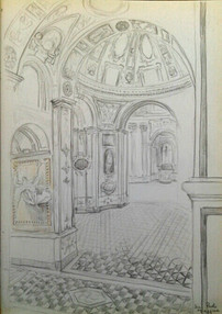 Two-point perspective study of San Paolo Maggiore -- Naples