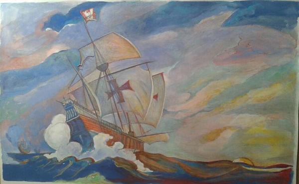 Caravela de Cristobal Colon por NC Wyeth