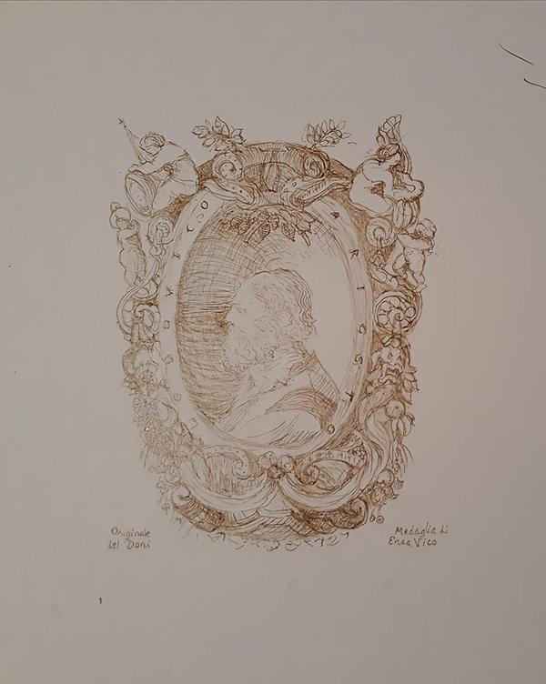 ARIOSTO Medallion portrait apres Enea Vi