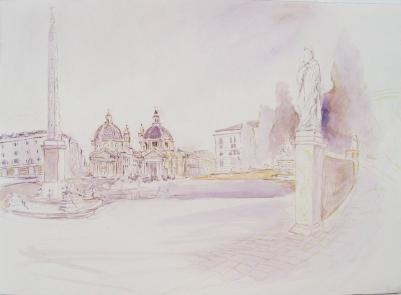 Piazza Santa Maria del Popolo before Val