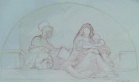 La Madonna del Sacco by Andrea del Sarto: analytical drawing