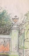 Gate with Roman Urn