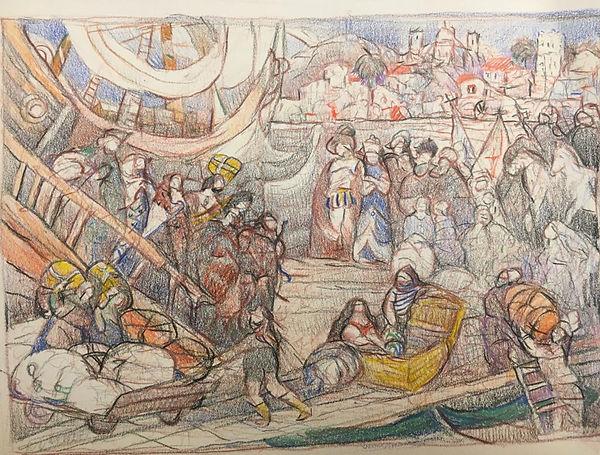 Los peregrinos llegando a Lisboa.jpg