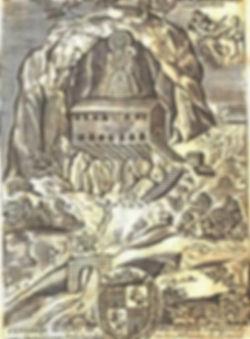 Grabado de la Virgen en la Santa Cueva.j