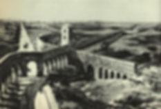 Aqueducts crossing at Campus Barbaricus.