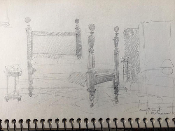 Martiniquais bed posts and room.jpeg