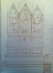 """Giotto di Bondone's """"Stefaneschi Fresco"""""""
