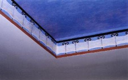 Don dining room ceiling corner cenefa de