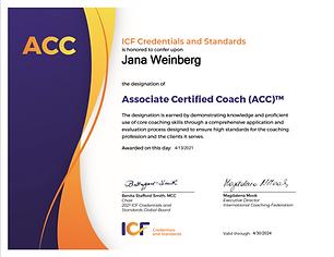 Jana Weinberg - profesionální kouč s mezinárodní certifikací