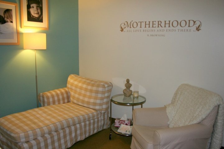 This is the cozy consultation room in the Women's Health Center building (a nod to Ikea).