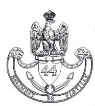 Plaque de shako du 44è régiment de flottille