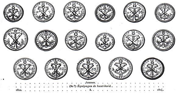 Bouton de 1810 à 1814, Haut Bord